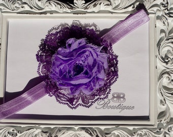 CLEARANCE, Baby Headband, Newborn Headband, lace Headband, baby headband flower