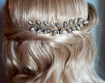 bridal hair vine, wedding hair vine, bridal hair piece, bridal hair, silver hair vine, delicate hair vine, bridal accessories, amethyst