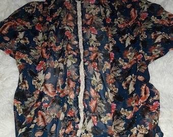 Floral kimono size:M