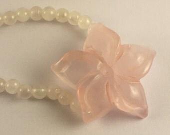 Starflower Rose Quartz Necklace