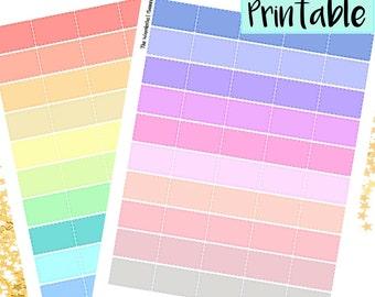 Half box Printable Planner Stickers | Half boxes, Printable PDF for Erin Condren Lifeplanner/ Mambi, INSTANT DOWNLOAD