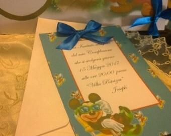 Kids birthday invitation Mickey Customizable