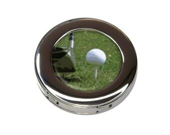 I'd Rather Be Driving a Golf Ball Foldable Purse Handbag Hook Hanger Holder
