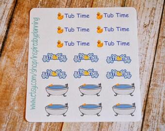 S8- Bath Time / Tub Time / 18 Bath Time Stickers