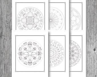 Mandala Colouring-INSTANT DOWNLOAD-Digital Printable//DIY-Kids Art Projects // Print and Color//Coloring Book