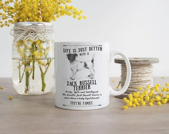 Jack Russell Terrier Mug ~ Perfect Gift can be personalised