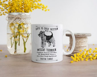 Welsh Terrier Dog Mug ~ Perfect Gift can be personalised