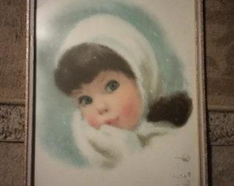 Northern Tissue Girl framed print