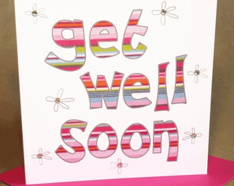 Get Well Card  (jewelled)