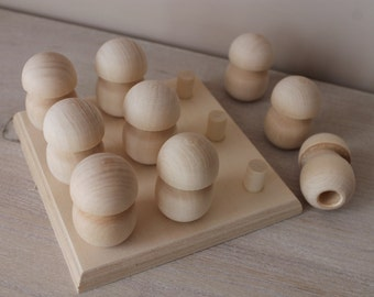 Montessori toy - wooden shape toy (9)