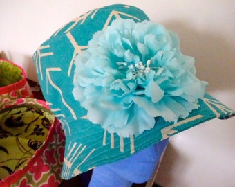 BlueArrow and Flower Bucket Hat