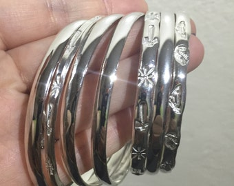 925 Silver Bracelets (Thick Band)