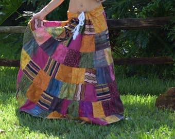Moroccan Inspired  Patchwork Skirt