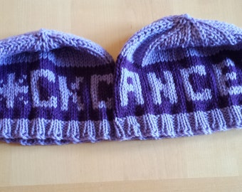 F*CK Cancer Knit Beanie Hat (All)
