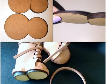 Wood DM fofuchas shoe soles
