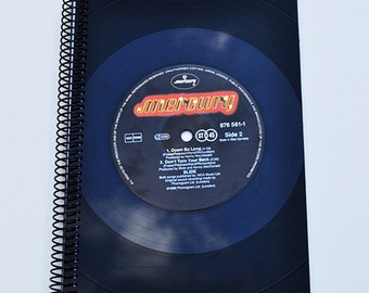 Vinyl record notebook