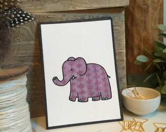 Alvin Elephant -- Nursery Decor -- 5x7 print