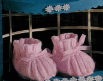 Knitting Pattern baby booties boots PDF Instant Download Nr.65