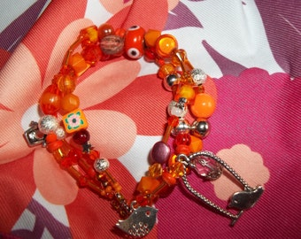 gorgeous orange bracelet
