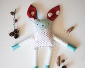 Stuffed deer plush for kids, forest animal deer plush, stuffed toy plush animal, soft toy deer, fawn plush, roe plush, unique deer doll