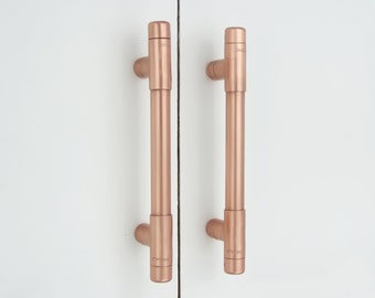 Modern, Copper T Pull Handle
