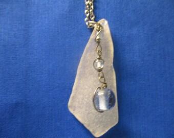 Blue Drop Beach Glass