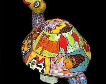 Big turtle, turtle, turtle of clay, turtle figurine, ceramic turtle, color turtle, handmade Turtle, ceramic sea Turtle, art ceramic Turtle
