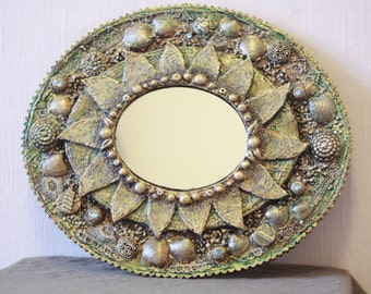 Handmade Large Oval Mirror