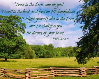 Trust in the Lord canvas
