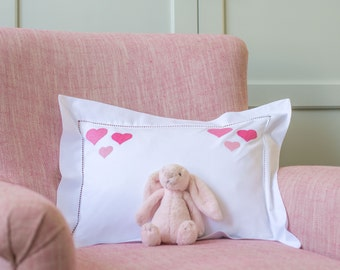 Pink Heart Cluster Baby Pillowcase