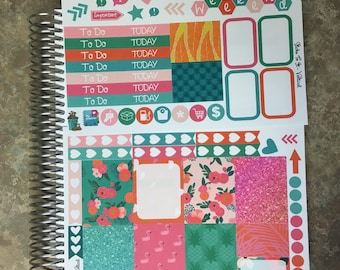 Cheeky Flamingo Mini Weekly Set ECLP Horz & Vert Planner Stickers - Full Set Floral ECLP Mambi Inkwell Press Filofax Kikki K Happy