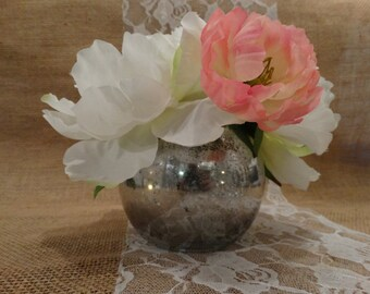Mercury Glass Vase – Small - Faux Mercury Glass Vase or Candleholder