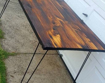 Barnwood Table with Hairpin Legs