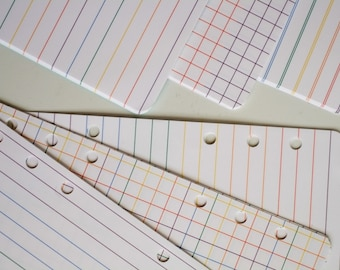 Printable Grids and Lines: Rainbows