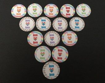 Love Is Love GL Buttons Set of 15