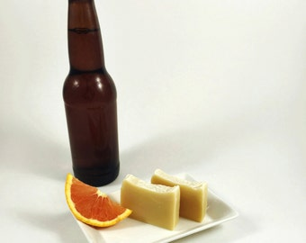 Citrus Beer Natural Soap (w/ Shea Butter)