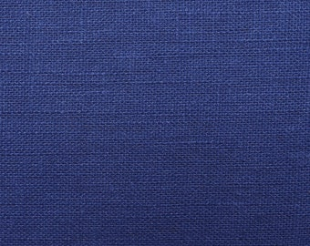 Linen natural - color: Royal Blue - 100% natural fiber - 0.5 m