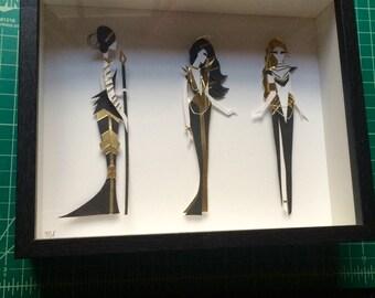 Ladies Paper Sculpture