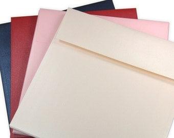 25 - 7 1/2 Square Envelopes - Metallic Finish - 7 1/2 x 7 1/2 inches