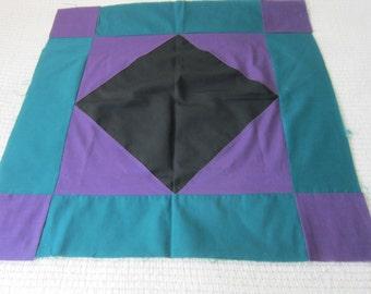 Vintage Diamond Pattern Amish Style Quilt Block