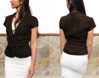 Summer linen blazer