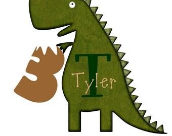 TRex Dinosaur Birthday Shirt - Iron On Transfer DIY Tyrannosaurus Party Shirt - Dinosaur Birthday Party - TRex Birthday Party - Dino Party