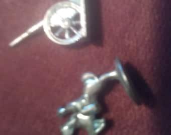 Metal civil war pieces