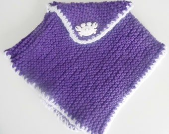 Hand Knitted Dolls Poncho (for 12 to 22 inch dolls)