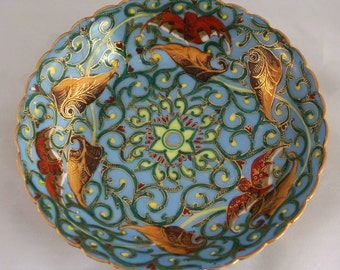 Satsuma bowl with vine and leaves