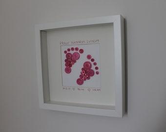 Baby feet button art