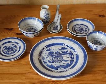 Chinesisches Porzellan Vintage Geschirr-Set