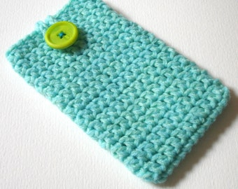 iPhone 6 Cosy in Mint Marl - Phone Case, Sock, Cozy - Fashion Accessories - Gadget case - Cell Phone Case for Her Birthday, Sister