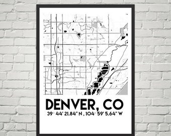 Map Poster of Denver, Colorado (Instant Download)