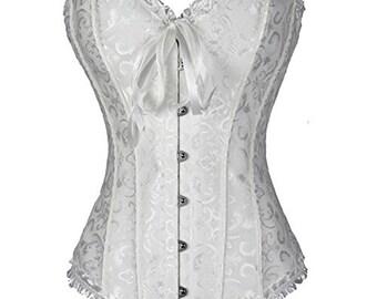 Vintage strapless corset has flowers